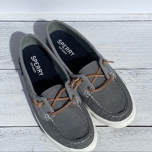Women's Grey Sperry Loafers Size 9